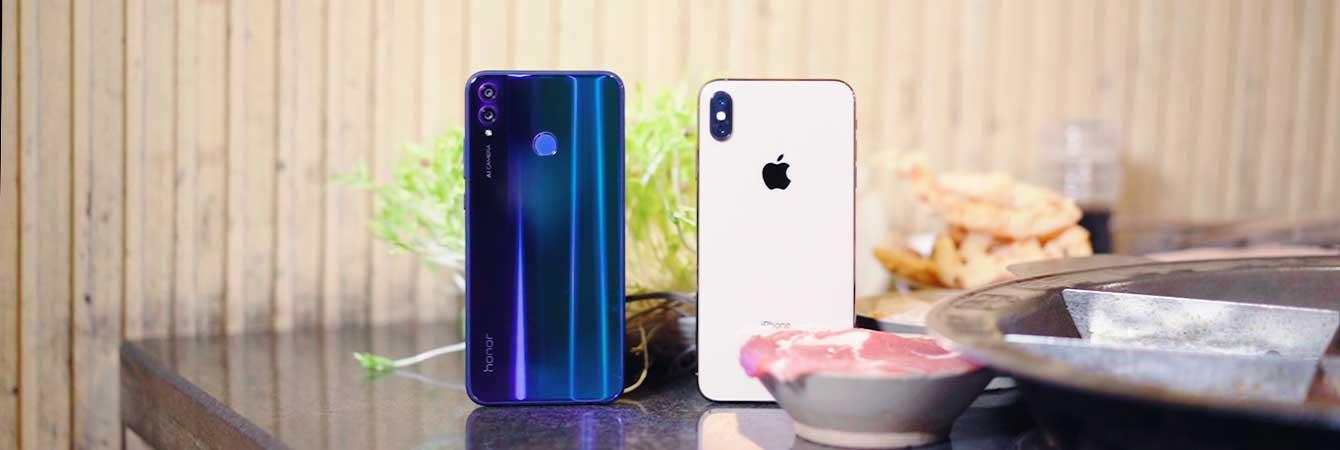 魔幻重庆实测荣耀8X和iPhone XS Max信号强度